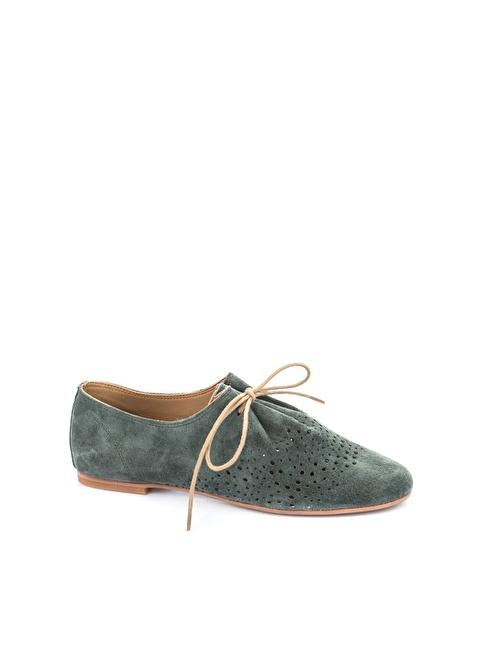 Elle Deri Loafer Ayakkabı Haki